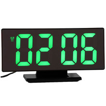 Digital Alarm Clock LED Mirror Electronic Clocks Multifunction Large LCD Display Digital Table Clock with Calendar USB Cable NEW