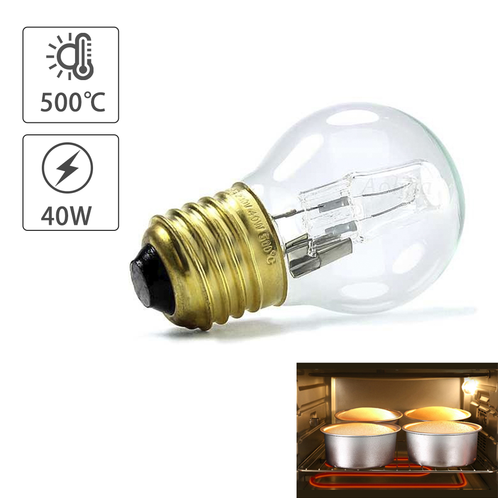 High Temperature Bulb 40W E27 500 Degree Microwave Oven Light Bulbs Cooker Tungsten Filament Lamp Bulbs Salt Light Bulb 110-250V
