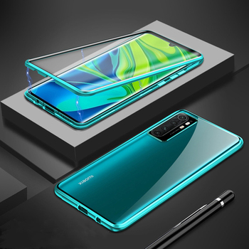 Double side Tempered Glass Case For Xiaomi Mi Note 10 Lite Case Metal Magnetic Cover On For Xiami Mi Note 10 CC9 Pro Case Fundas