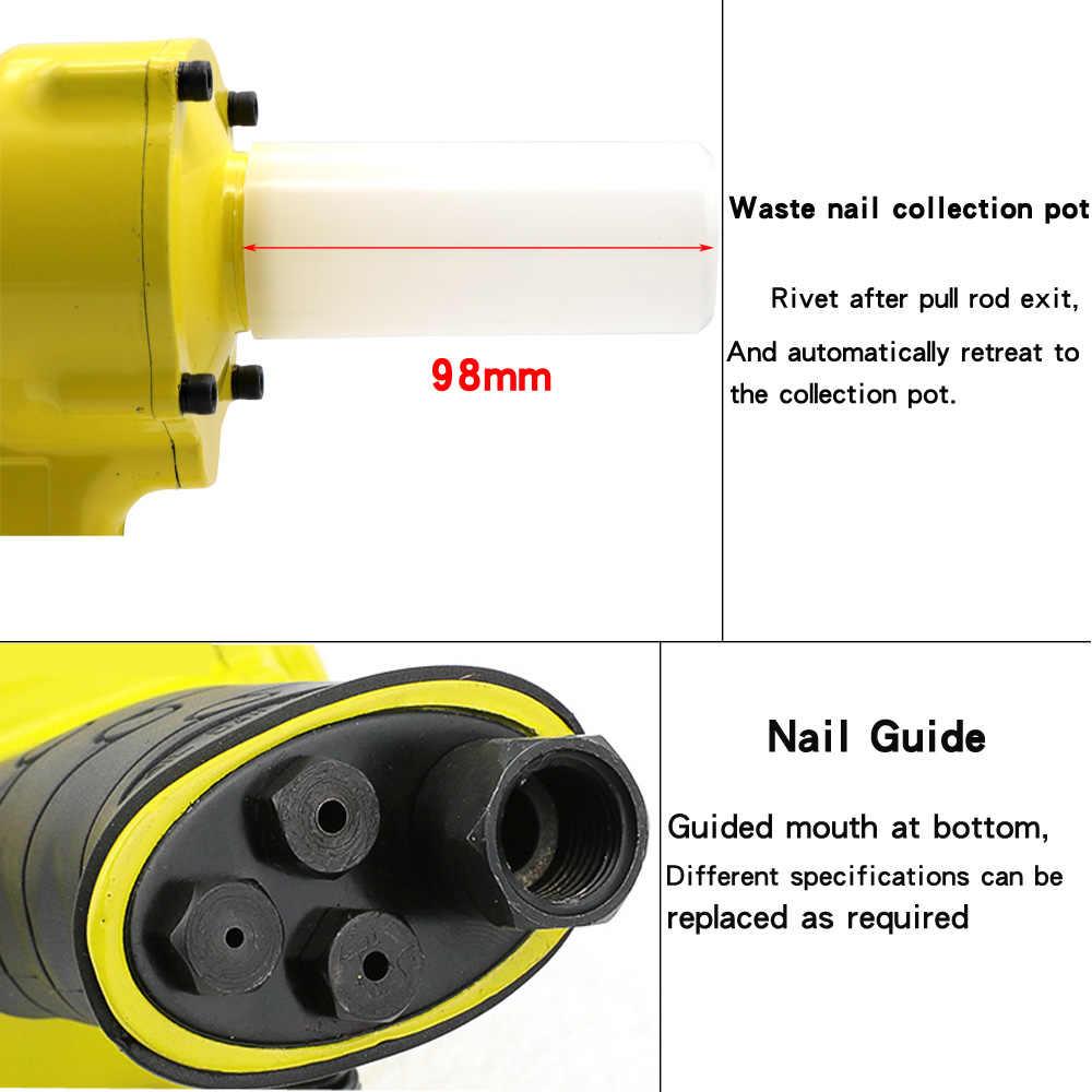 Pneumatische Air Blind Klinknagel Pistool Met 40 Pcs Nail Automatische POP Riveters Klinkgereedschap voor 2.4mm 3.2mm 4.2mm 4.8mm