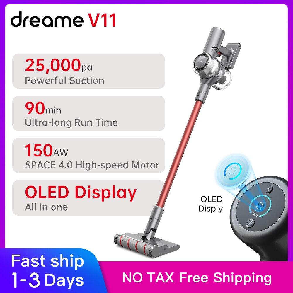 Dreame V11 Handheld Wireless Staubsauger 25000Pa OLED Display Tragbare Cordless Sauger Staub Kollektor boden Teppich Reiniger