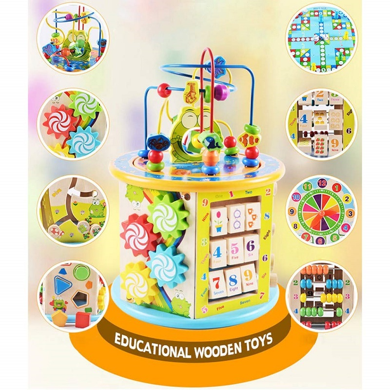 Kids Toys Montessori Wooden Toys Intelligence Box Training Game Puzzle Math Toys Baby Early Educational Toys For Children