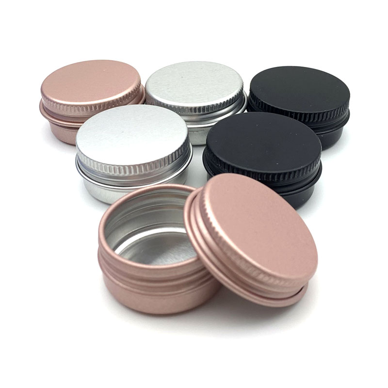 10Pcs 10g Colorful Empty Aluminum Pot Jars Cosmetic Containers With Lid Eye Cream Hair Conditioner Tin Cosmetic Metal