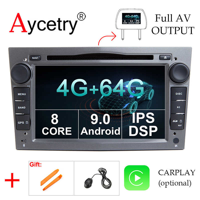 4G 64G 2 Din Android 9 voiture DVD GPS Navigation radio pour Opel Astra H G J Antara vectra c b Vivaro astra H corsa c d zafira b DSP