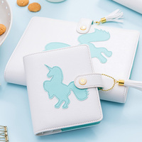 Lovedoki A5 Laser PU Leather Cover Notebooks 2020 Year Planner Monthly Weekly Organizer Diary Book School Supplies Stationery