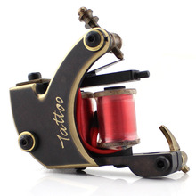 Ambition Pure Copper Handmade Tattoo Machine Coil Tattoo Machine For Liner & Shader 10 Wraps  & 12 Wraps Tattoo Supplies