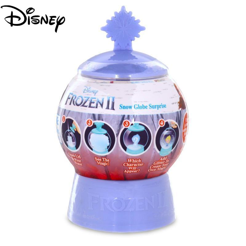 Frozen 2 Snow Globe Surprise Single Pack Magical Snow Globe and Secret Reveal Collectible Toy Anime Figure Toys Birthday Gift