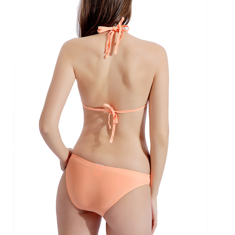 Riseado Strap Halter Bikinis Women Solid Swimsuits Push Up Swimwear Sexy 2020 Mirco Bikinis Summer Beach Wear Biquini Bathers 5