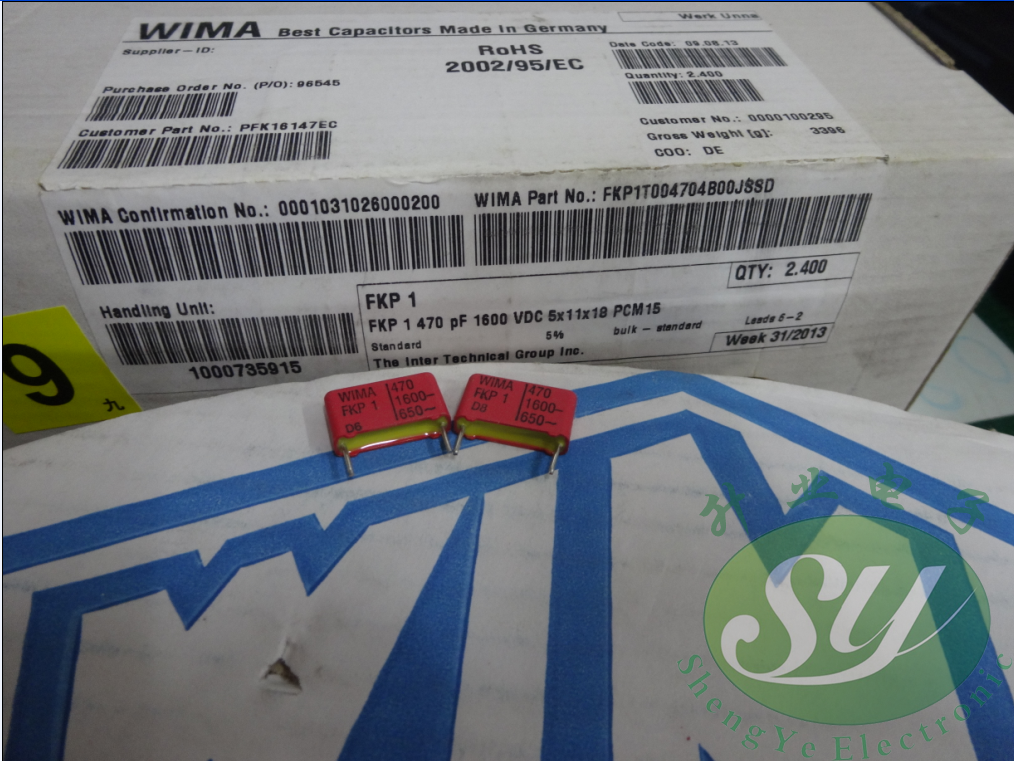 20PCS/50PCS WIMA FKP1 0.00047uF/1600V 0.47nf 470pf 471 P15MM New FKP1T004704B00 FREE SHIPPING