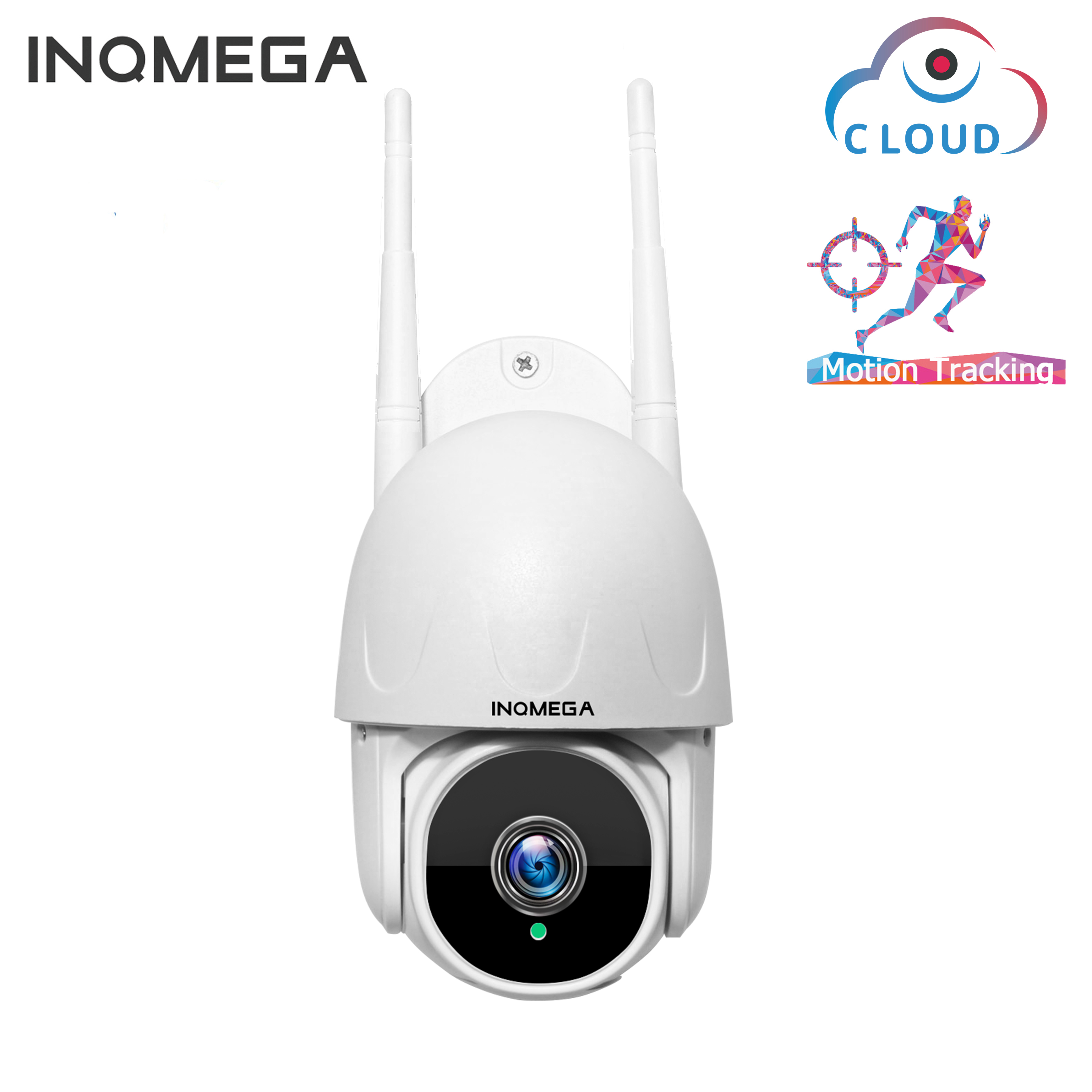 INQMEGA 1 Inch Cloud 1080P PTZ Speed Dome Wifi Camera Outdoor 2MP Auto-Tracking Camera Wireless Camera Home Surveillance IP Cam