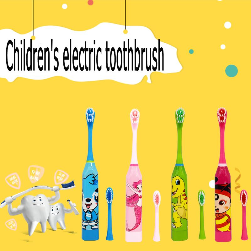 Children's toothbrush cartoon pattern double-sided toothbrush head toothbrush replacement brush head children image