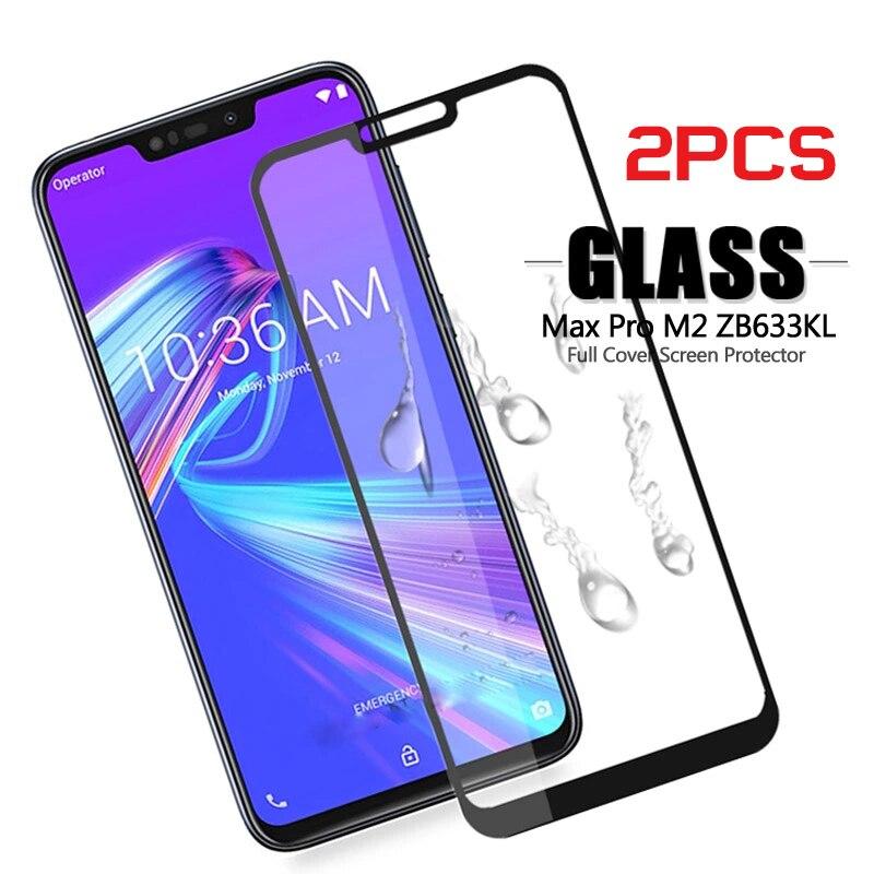 2PCS For Zenfone Max M2 ZB633KL ASUS_X01BD/BDA Tempered Glass For ASUS Zenfone Max M2 ZB633KL ZB 633KL ZB633 KL Protective Film