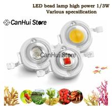 10 шт. 1 Вт 3 Вт светодиодный чип высокой мощности лампы SMD COB диоды для подавления переходных скачков напряжения Теплый Холодный белый красный...