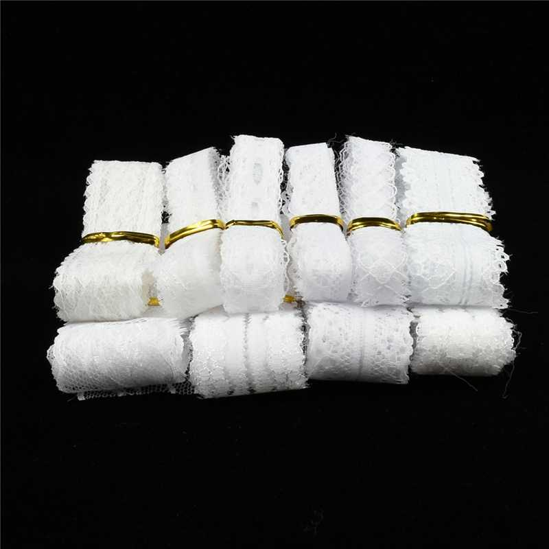 Wholesale cheap 10yard/Lot white lace ribbon cotton lace for sewing  DIY embroidery trim Wedding decoration Africa lace fabric
