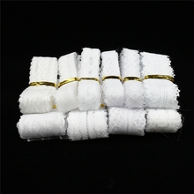Wholesale cheap 10yard/Lot white lace ribbon cotton for sewing  DIY embroidery trim Wedding decoration Africa fabric