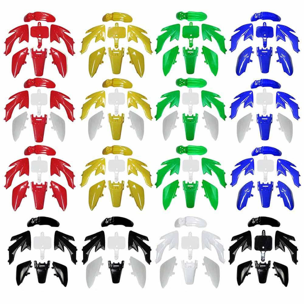TDPRO крыло мотоцикла комплект брызговиков пластик новый полный обтекатель средства ухода за кожей для Moto Enduro Honda 50cc-160cc устойчивого развития ...