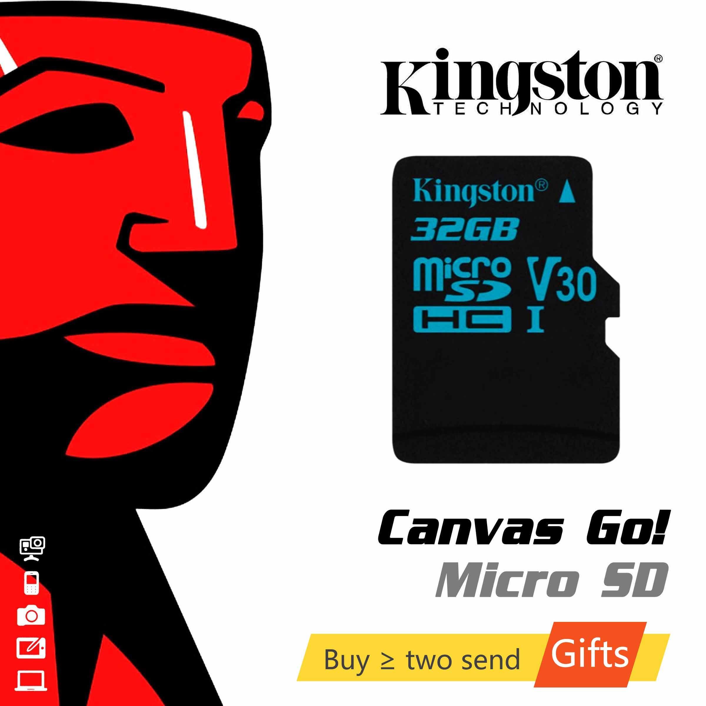 킹스톤 마이크로 SD 카드 32 기가 바이트 64 기가 바이트 128 기가 바이트 메모리 카드 TF microSD 풀 HD 4K 액션 카메라 Memoria 카드 Gopro 드론 스마트 폰