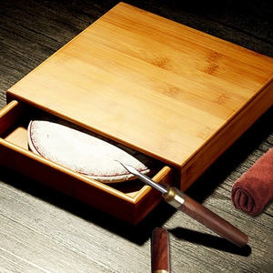 Image 5 - Natural Bamboo Tea Box Wood Tea Tray Kung Fu Set Teaware Accessories Tea Packaging Tea Box Drawer Type Single Layer Tea Storage