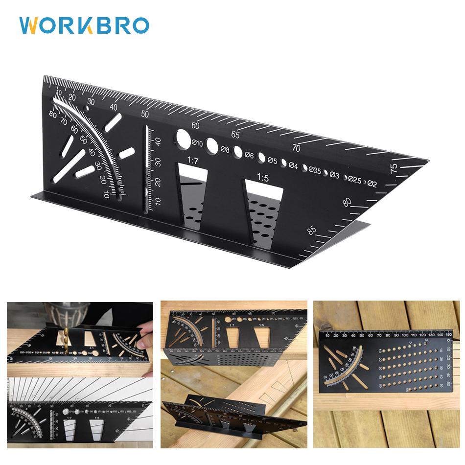 Dovetail Template Marker Horizontal Vertical Angle Scale Calibration Woodworking