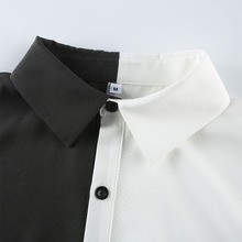 HEYounGIRL Patchwork Black White Punk Dress Women Casual Loose Short Dresses Ladies Harajuku Summer Korean Dress Streetwear