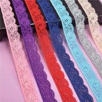 Elástico cinta elástica de encaje blanco tela de encaje Africana elasticidad de encaje bordado para ropa, costura ropa interior Accesorios