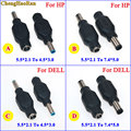 ChengHaoRan 1 шт., 4,5x3,0 мм, 7,4x5,0 мм, штекер постоянного тока в 5,5x2,1 мм, разъем адаптера питания для DELL для HP