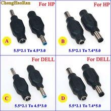 ChengHaoRan – connecteur de prise d'alimentation pour DELL HP, 4.5x3.0mm, 7.4x5.0mm, mâle à 5.5x2.1mm, 1 pièce