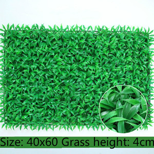 Image 4 - 40x60cm Artificial Green Plant Lawns Carpet for Home Garden Wall Landscaping Green Plastic Lawn Door Shop Backdrop Image Grass
