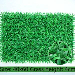 Image 4 - Tapete de plantas verdes artificiais 40x60cm, tapete para casa, jardim, parede, paisagem, plástico verde, gramado, porta, backdrop imagem grama