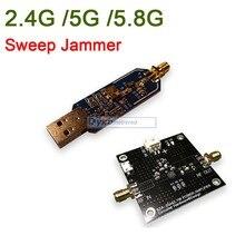 2.4Ghz / 5Ghz / 5.8Ghz WiFi Sweep Jammer Shielder 2.4G 5G 5.8G WiFi Disturber jammer development board / 1W 2W power amplifier
