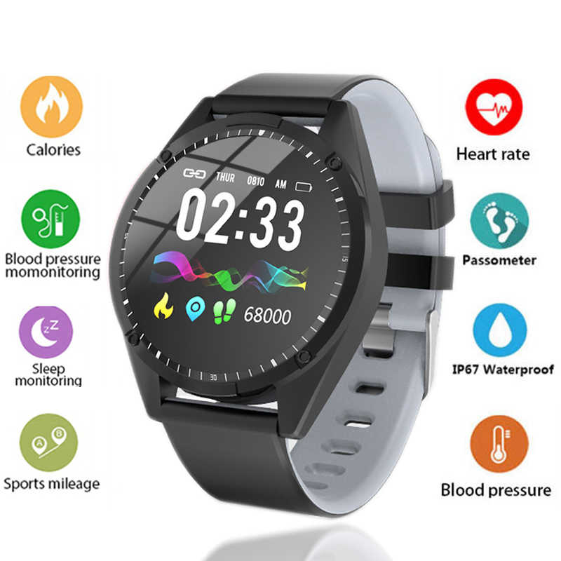LIGE 2019 New Smart Watch Men Women Ip67 Waterproof Heart Rate Blood Pressure Monitor For Android IOS Sport Fitness Smartwatch