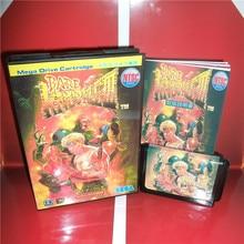 Tarjeta de juegos MD Bare Knuckle 3, cubierta japonesa con caja y Manual para consola MD MegaDrive Genesis, tarjeta MD de 16 bits