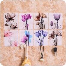 4 шт крючок для ключей декоративный Креативный цветочный клей