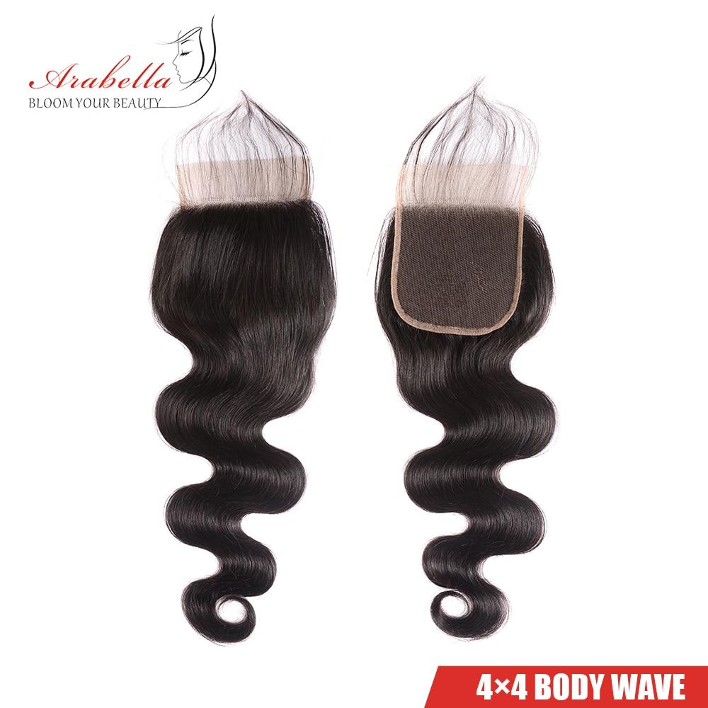 Body Wave 3 Bundles With Closure Natural Color   Arabella  Hair 3 Bundles With 4*4 Lace Closure 5