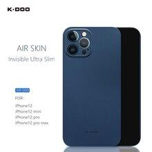 Ультратонкий чехол K-Doo Air, толщина 0,3 мм, полное покрытие, Сверхтонкая задняя крышка мобильного телефона для iPhone12/12mini/12pro/12promax