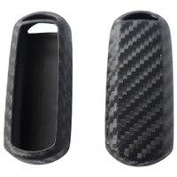 2 pacote de silicone fibra carbono padrão caso chave do carro capa chaveiro para mazda inteligente MX-5 2 3 5 6 CX-3 CX-5 CX-9 acessórios fob ela