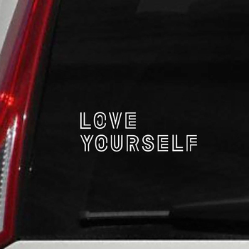 14X6cm Love Yourself Car Truck Vehicle Body Window Reflective Decals Sticker Decoration 2