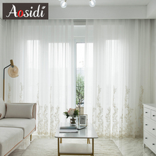White Sheer Curtains For Living Room Modern Elegant Curtains On The Bedroom Window Decoration Voile Curtains For Home Drapes