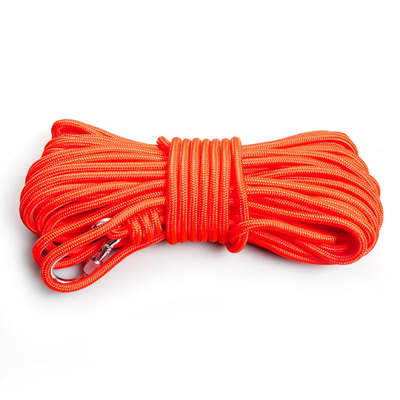 Outdoor Climbing Rope 6MM-8MM 10-30M High Strength Safety  Rescue Rope Survival Tool With Hook