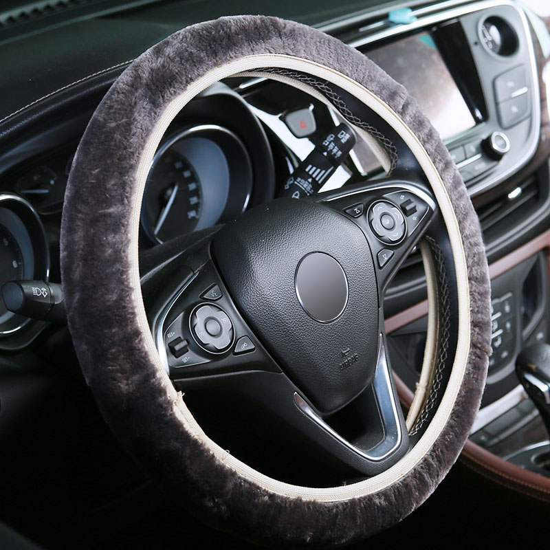 Фото - Faux fur short-haired steering wheel cover rs04s 01 electronic heating steering wheel cover