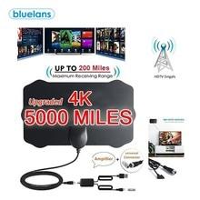 Mini Shield Shape HDTV Antenna 4K HD Indoor Digital TV Aerial Signal Amplifier 980 Miles Range 25DB For VHF UHF HDTV Antenna