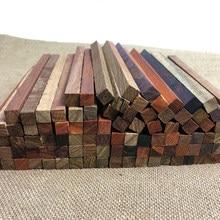 50 Stuks Kleine Stukjes Sandelhout Palissander 18*1*1 Cm Lock Pixel Blok Decoratieve Diy Mini Vierkante Hout