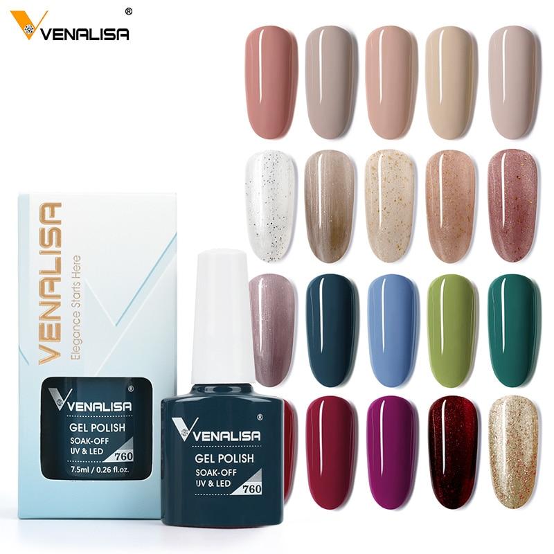 Venalisa VIP3 Gel Nail Polish 7.5ml Upgraded High Pigmentation Funny Bunny Glitter Gel Lacquer Nail Art Manicure Nail Gel Polish