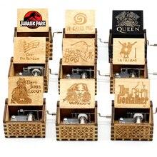 Music-Box Hand-Crank Jurassic Park Wooden Birthday Christmas Wholesale   New-Year's-Gift