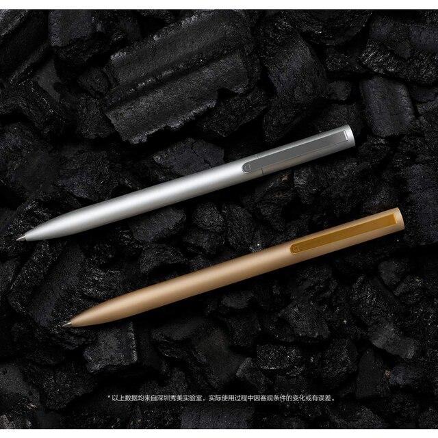Original Xiaomi Mijia Metal Sign Pens PREMEC Smooth Switzerland Refill 0.5mm Signing Pens Mi Aluminum Alloy Pens Black Ink 2