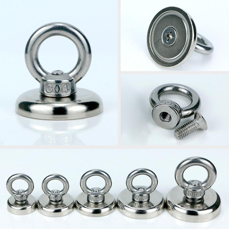 1 шт., сильный магнит, круглая тяговая сила, речная рыбалка, магнитный болт, простой металлический магнит, крючок для домашнего использования...