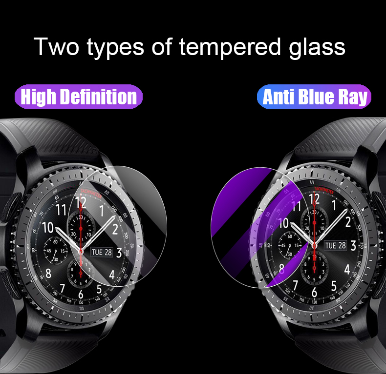 2.5D HD Protective Film For Samsung Galaxy Watch 42mm 46mm Gear S2 S4 Sport S3 Classic Frontier Screen Protector Tempered Glass 6