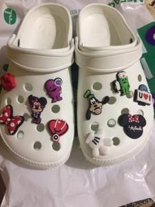 Buckles-Accessories Decor Shoe-Charms Castle Whale Gift Lips Croc Jibz Mickey Kids Cartoon
