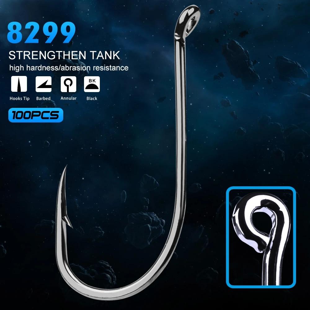 100pcs NEW Saltwater hooks Fishing Hook Octopus High-carbon Steel fishhook Bass