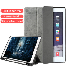 Luxury Cloth Texture Tablet Case For iPad Pro 12.9 inch Silicone Back Stand Ultra-thin Smart Cover For iPadpro 2018 Coque